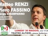 Matteo Renzi a Torino per sostenere Piero Fassino – lunedì 30 maggio Teatro Alfieri