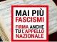 """25 Aprile – il PD aderisce alla fiaccolata e alla mobilitazione per la raccolta firme """"Mai più Fascismi"""""""