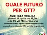 QUALE FUTURO PER GTT – ASSEMBLEA PUBBLICA – GIOVEDì 18 APRILE